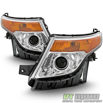 2011-2015 Ford Explorer Headlights Headlamps Lights Left-Right 11 12 13 14 15