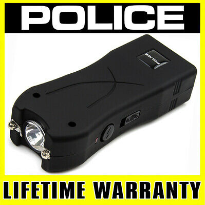 POLICE STUN GUN 398 170 BV Rechargeable With LED Flashlight - Holster