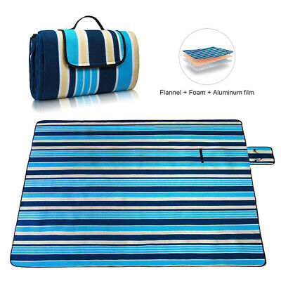 Foldable Extra Large Picnic Blanket Beach Mat Waterproof Camping Outdoor 200cm