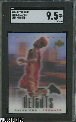 2003-04 Upper Deck City Limits LeBron James Cavaliers RC Rookie SGC 9-5