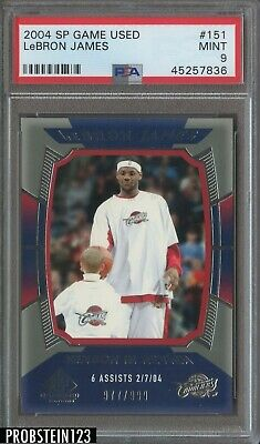 2004 SP Game Used Edition LeBron James Cleveland Cavaliers 977999 PSA 9 MINT