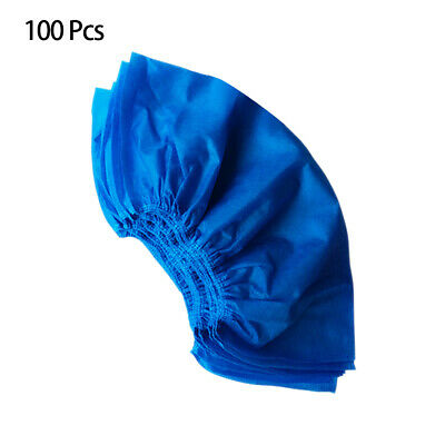 100Pcs Disposable Non-Woven Fabric Shoe Covers Anti Slip Overshoes Protector