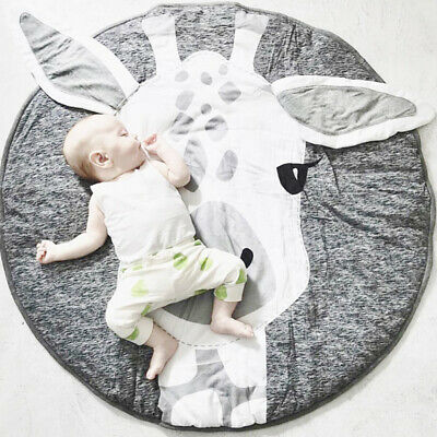 Round Soft Baby Kids Cotton Floor Rug Game Gym Play Crawling Bedroom Mat Blanket