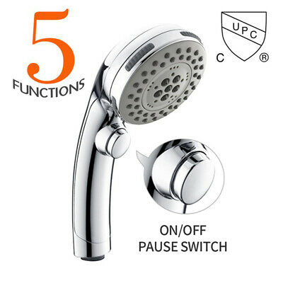 Shower Head Set Universal Multi Function Chrome Anti-Limescale Bath - 1-5M Hose