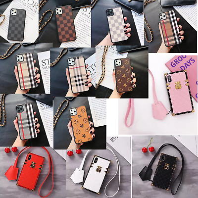 Luxury Square Plaid PU Leather Case Cover Strap For iPhone 11 Pro Max XS XR 78