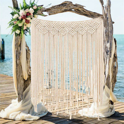 Macrame Wall Hanging Cotton Woven Wall Tapestry Large Handmade for Wedding US