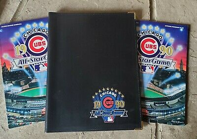1990 Chicago Cubs Baseball All Star Game Ink Pen Legal Notebook Folder Programs