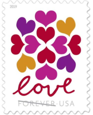 100 USPS 5 Panes OF 20 Hearts Blossom Forever Postage Love Stamps 5339