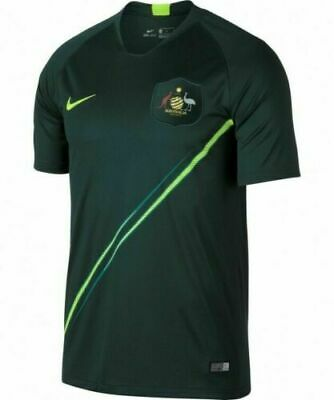 NWT MENS NIKE AUSTRALIA WORLD CUP AWAY SOCCER JERSEY SIZE LARGE FAST SHIP RARE