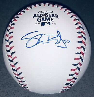 Shane Bieber Autograph Cleveland Indians Signed 2019 All-Star Game Baseball BAS