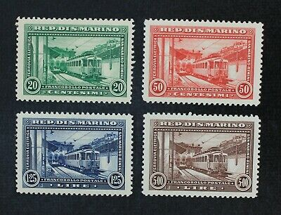 CKStamps Italy Stamps Collection San Marino Scott139-142 Mint H OG