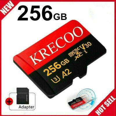 256GB Micro Memory Card 10 Fast 4K Class10 Flash TF Card with Adapter-Car-Camera