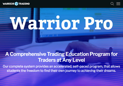 Warrior Trading Course Complete Pro System - 2020 Live Trading Value 30997