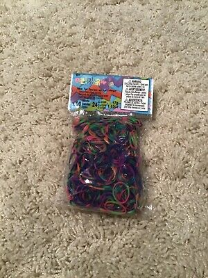 Rainbow Loom 600 Muti-colored Bands 24 C-clips