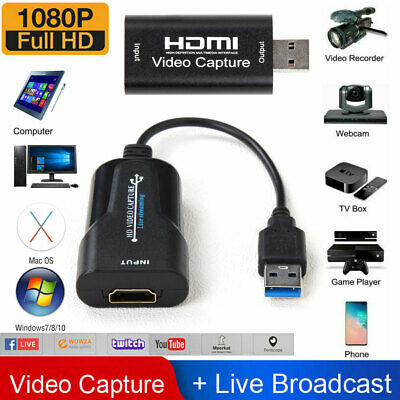 1080P 4K HDMI to USB 2-0 3-0 Video Capture Card Game Audio Video Live Streaming