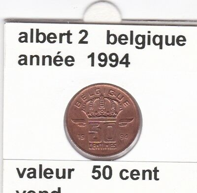 FB )pieces de albert 2  50 cent 1994  belgique