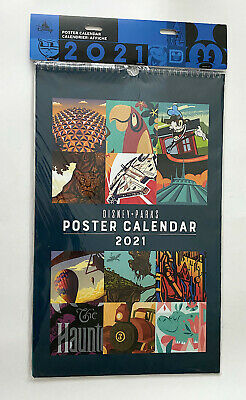 Disney Parks 2021 Attraction Poster Calendar NEW