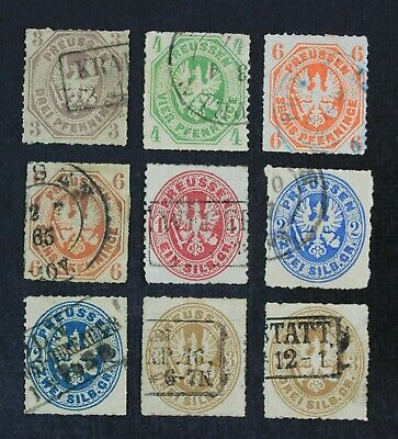 CKStamps Germany Stamps Collection Prussia Scott14-20 Used