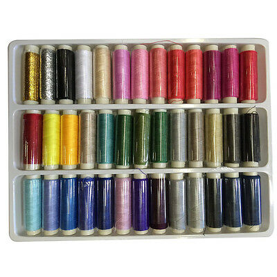 39 Spools Mixed Colors Sewing Thread String Set Polyester Kits Multifunction