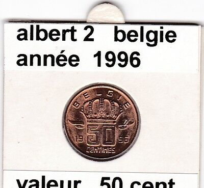 FB )pieces de albert 2  50 cent 1996  belgie
