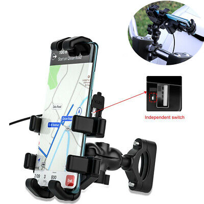 Universal 360° Bicycle Motorcycle Bike Handlebar Mount Holder Fit For Cell Phone