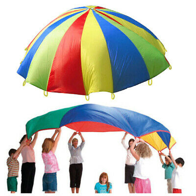 KIDS PLAY RAINBOW PARACHUTE OUTDOOR GAME EXERCISE SPORT GROUP ACTIVITIES