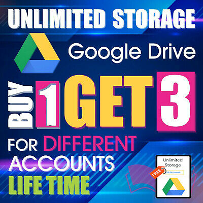 3 UNLIMITED GOOGLE Team DRIVE FOR YOUR EXISTING ACC Buy 1  LIFETIME  ✅Premium