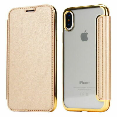 For iPhone XS Max XR Luxury Slim book Leather -TPU wallet Flip Cover skin Case