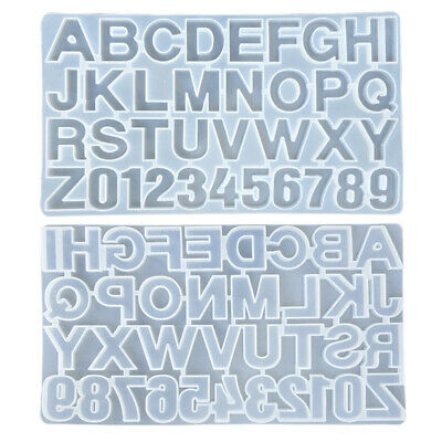 Home English Letter Alphabet Silicone Mould Jewelry Resin Digital Pendant Tool