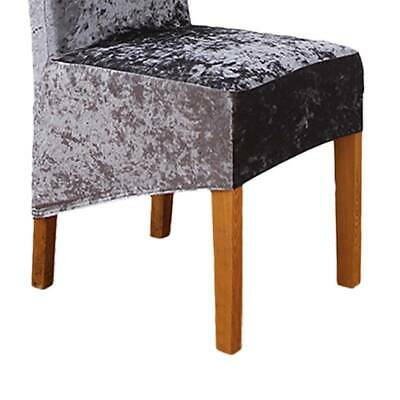 Crushed Velvet Fabric Stretchable Chair Covers Chair Protective Slipcover US