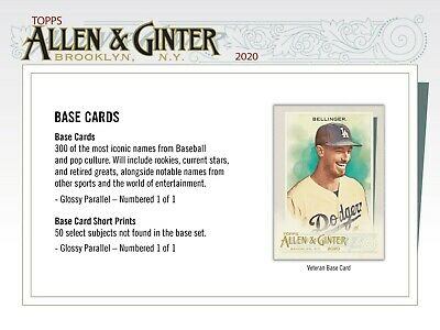 2020 Topps ALLEN - GINTER 1-250  Pick Your Card  1 SHIPS YOUR ORDER