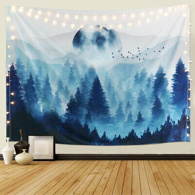 Psychedlic Forest Tree Landscape Tapestry Wall Hanging Tapestry Art Room Decor
