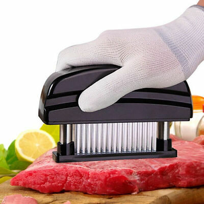 Pro Meat Tenderizer 48 Blade Stainless Steel Needle Prongs Home Kitchen Tool US
