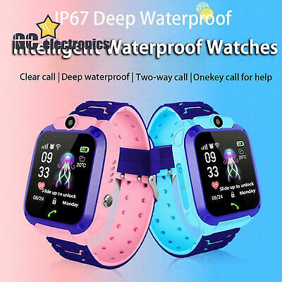 Anti-Lost Kids Safe Smart Watch GPS Tracker SOS Call For Android iOS A3US