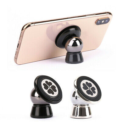 Strong Magnetic 360 Car Phone Holder Dashboard Mount Stick on With Mounting Disc