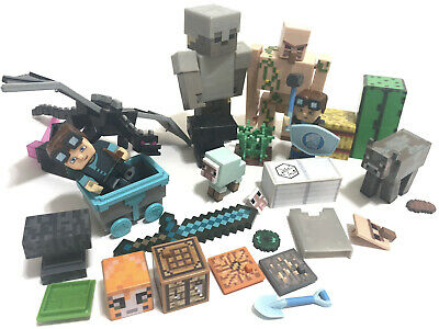 Minecraft Lot Of Toys Action Figures Overworld Earth Dungeons Mojang Toy