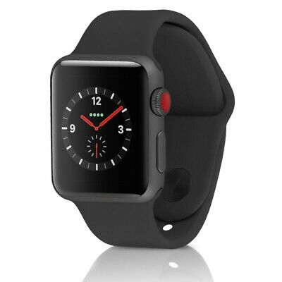 Apple Watch Series 3 GPS-LTE w 42MM Space Gray Aluminum Case - Black Band