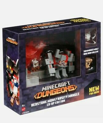 MINECRAFT DUNGEONS Redstone Monstrosity Mangle Co-Op Edition 4-Figure Pack New