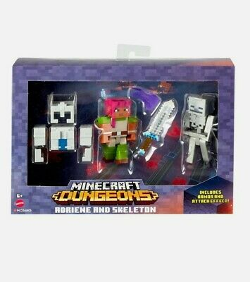 Minecraft Dungeons ADRIENE AND SKELETON Figures