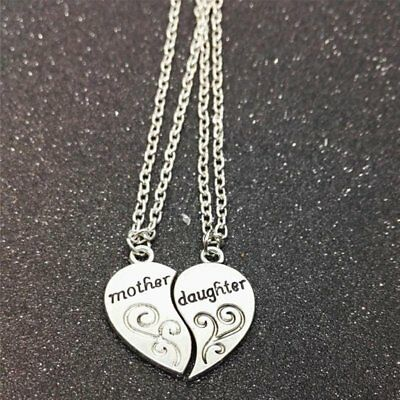 Mother And Daughter Heart Necklace Women Love Mom Mothers Day Gift For Mother
