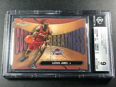 LEBRON JAMES 2003 FLEER PATCHWORKS 23 COURTING GREATNESS ROOKIE RC BGS 9