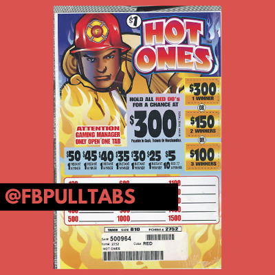 HOT ONES - 810 PULL TABS AT ONE DOLLAR EACH - 235 PROFIT - FUNDRAISER