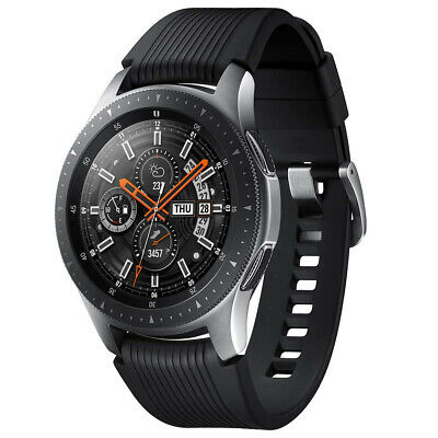 Samsung Galaxy Watch GPS - Bluetooth w 46mm Silver Case - Black Rubber Band