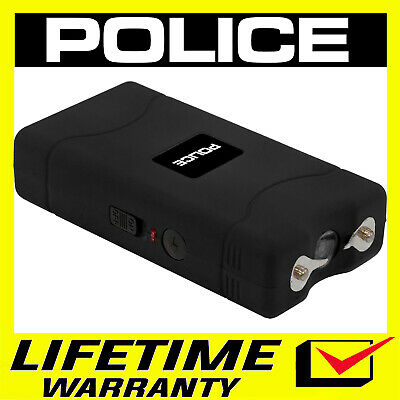 POLICE Stun Gun Mini BLACK 800 350 BV Rechargeable LED Flashlight
