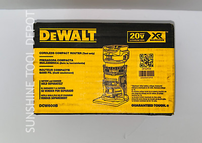 Dewalt DCW600B 20V MAX XR® Brushless Cordless Compact Router