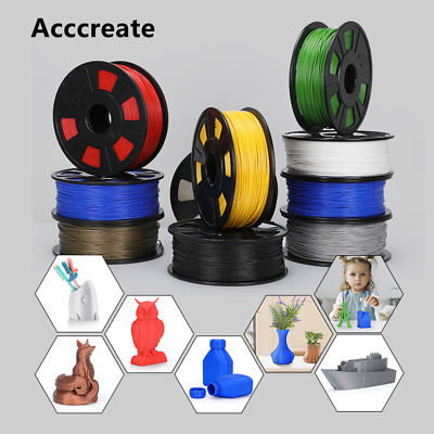 Acccreate 1Kg 1-75mm PLA Filament For Creality Ender 3 Pro CR-10S 3D Printer