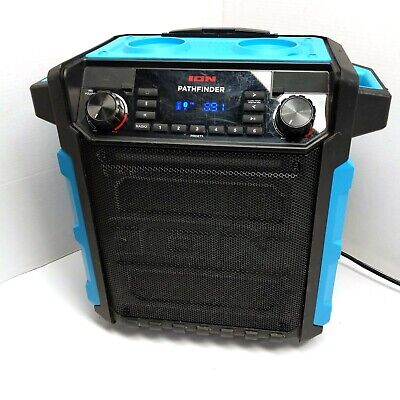 ION Pathfinder High Power Waterproof Bluetooth Speaker Light Blue