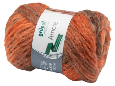 GRÜNDL Amore Wolle 100g 120m, 05 Terracotta Orange