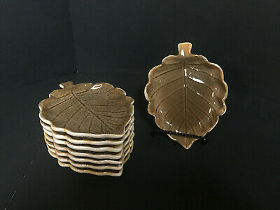 Pfaltzgraff Plymouth Hor Doeures Leaf Plate Dish Set of 8