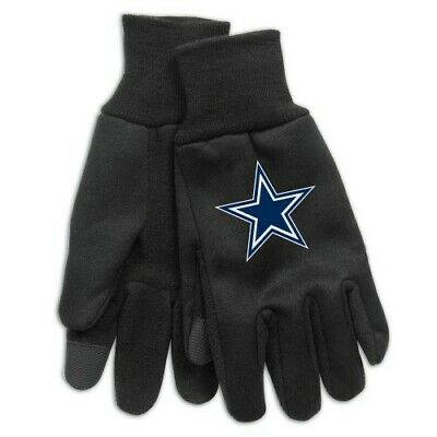 Brand New Mens Adult NFL Dallas Cowboys  Embroidered Technology Gloves OSFM